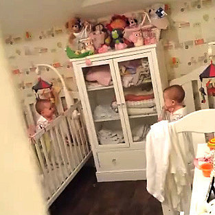 Video of Twins Playing Peekaboo Goes Viral