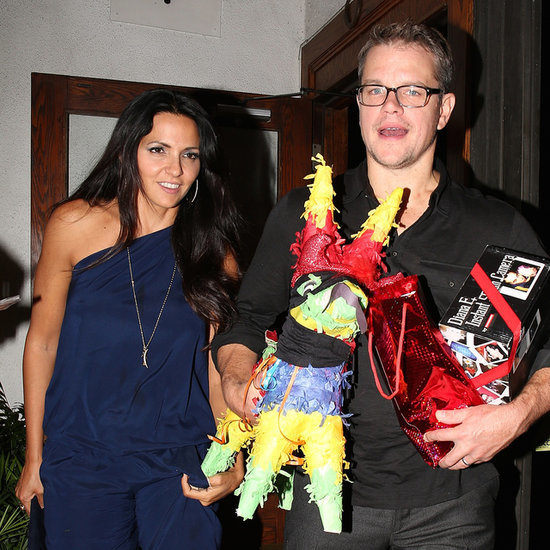 Matt Damon With a Pinata on His Birthday 2014