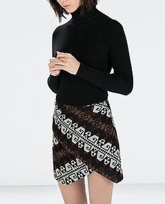 Zara Printed Miniskirt