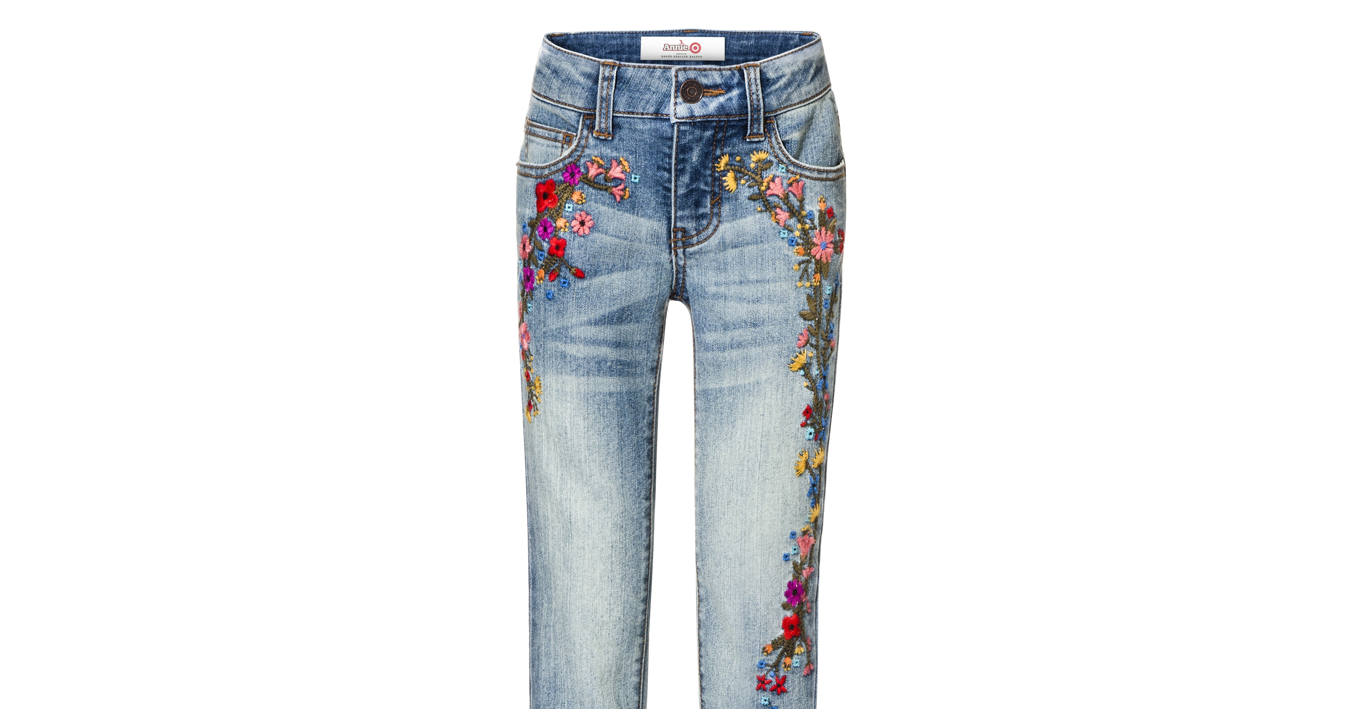 Floral embroidered jeans target s newest collection will