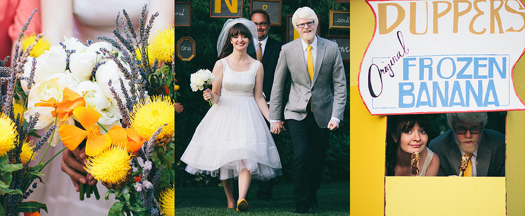 A Lovely Vintage Wedding With a TV Twist