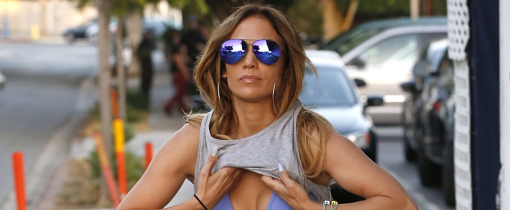 Jennifer Lopez Practically Performed a Striptease on the Street