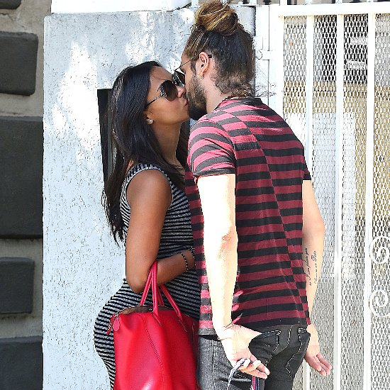 Zoe Saldana and Marco Perego Kiss | Pictures