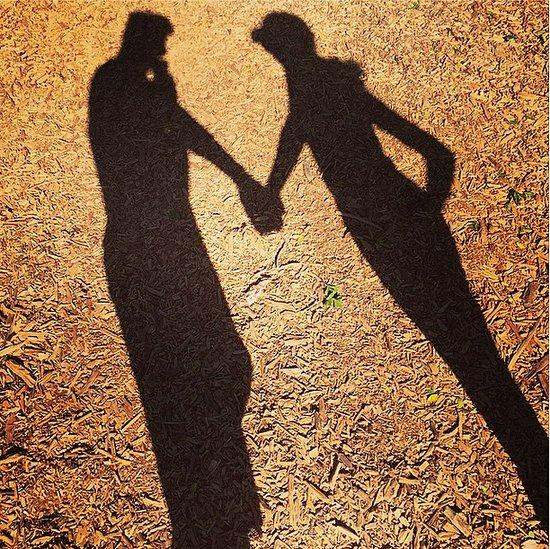 Lea Michele Holding Hands Instagram Photo