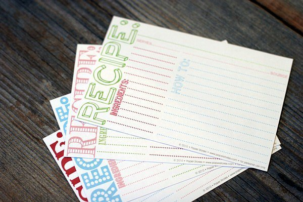 Recipe Cards And Book Guest Book Recipe Cards