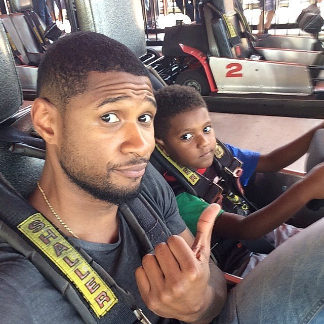 He and Naviyd rode go-karts together on Father's Day in 2014.