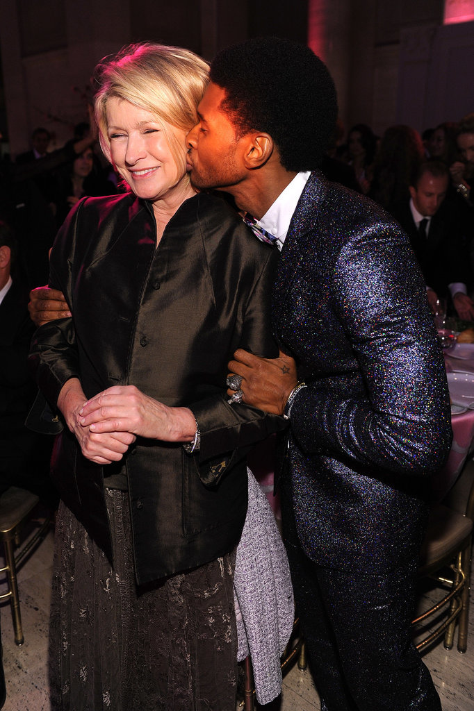 He smooched Martha Stewart at a charity event in October 2013.