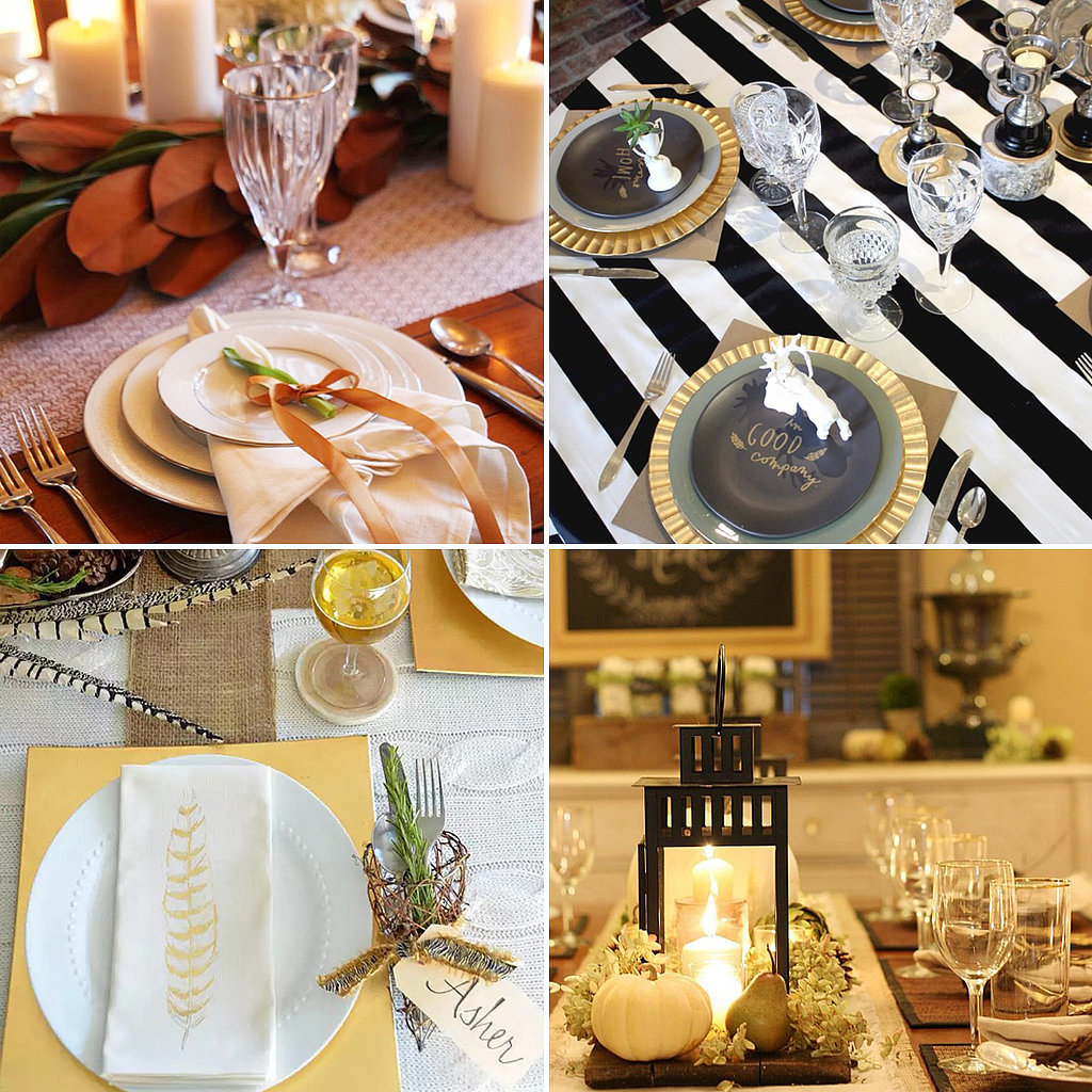 Thanksgiving table setting ideas from instagram popsugar Cheap thanksgiving table setting ideas