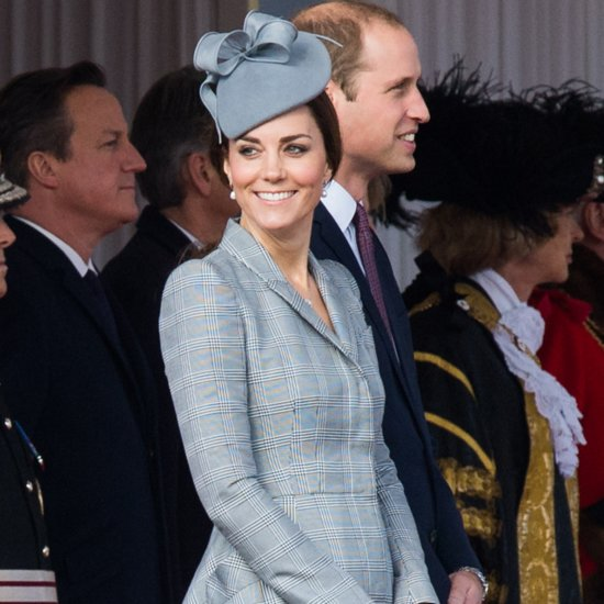 Kate Middleton Pregnant Style Alexander McQueen Grey Coat
