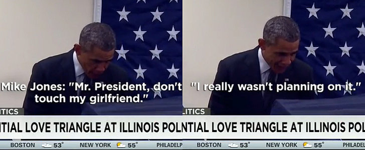 "Obama Reacts Hilariously When a Man Tells Him, ""Don't Touch My Girlfriend"""