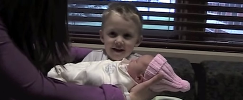 This Big Brother Meets His New Baby Sister and Asks a Hilarious Question