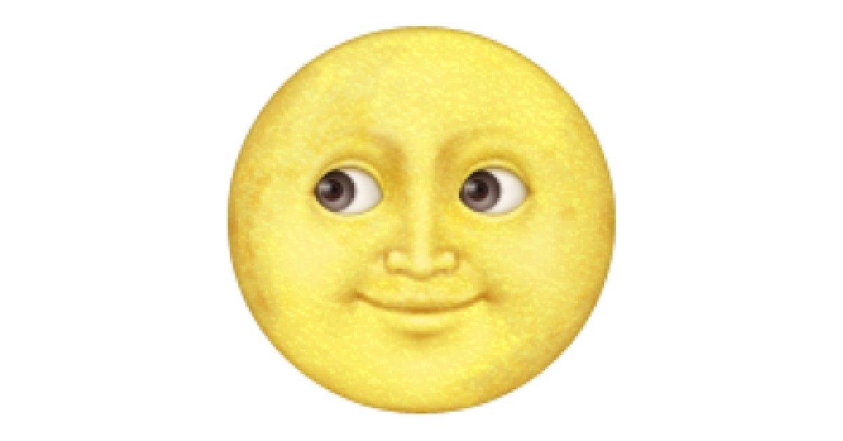 Yellow Moon Emoji Transparent