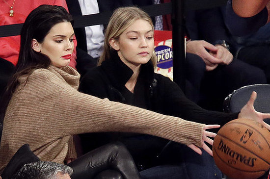 Kendall Jenner And Her Model Friends Take In A Basketball Game