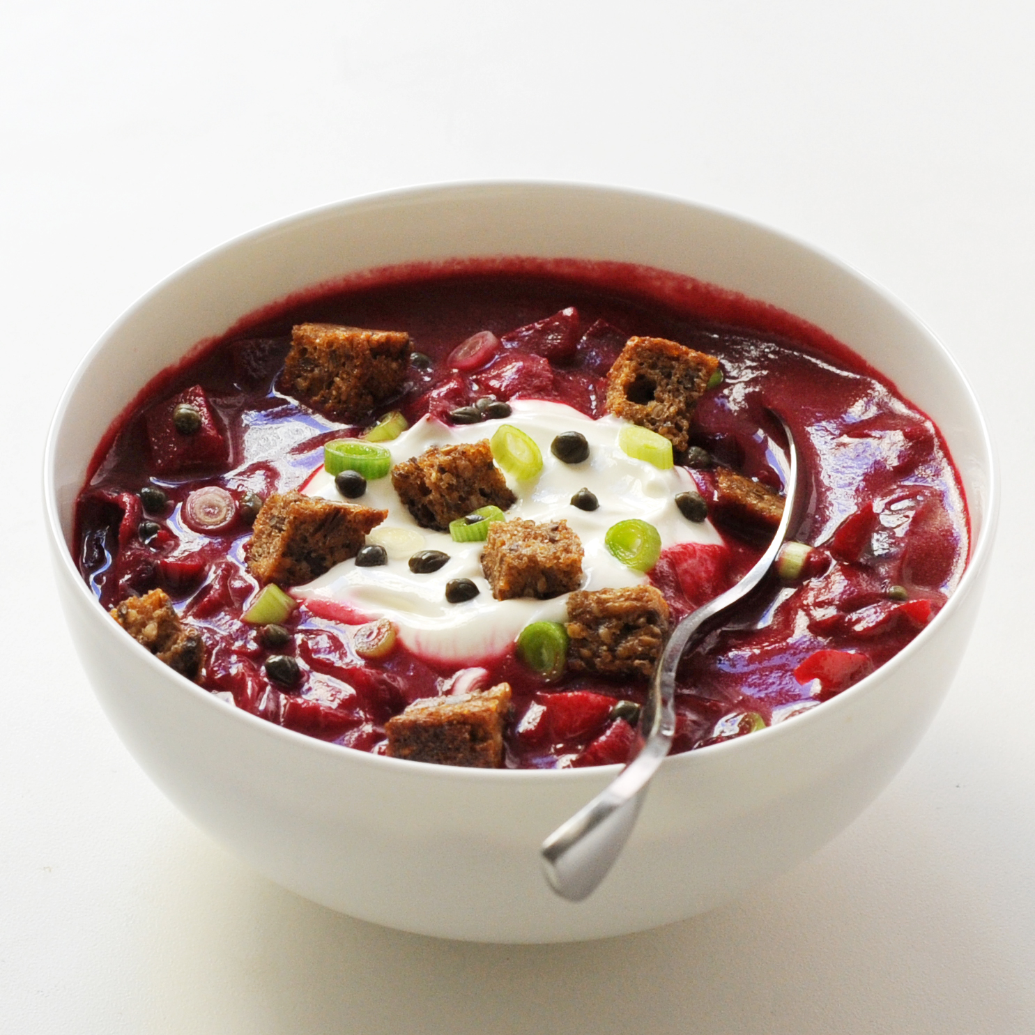 Beet and Red Cabbage Borscht