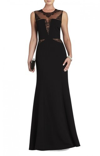 $198.00 BCBG SACHIE LACE INSERT GOWN