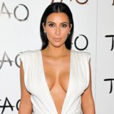 Kim Kardashian's Low Cut White Birthday Dress