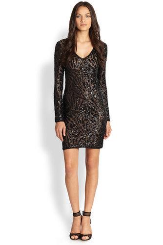$188.00 BCBG MORRIS SEQUINED DRESS BLACK