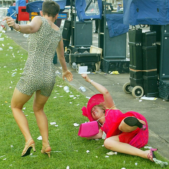 Funny Pictures of Drunk Partygoers at the Races