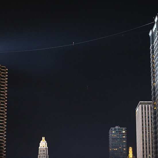 Nik Wallenda Walks a Tightrope Between Chicago Buildings