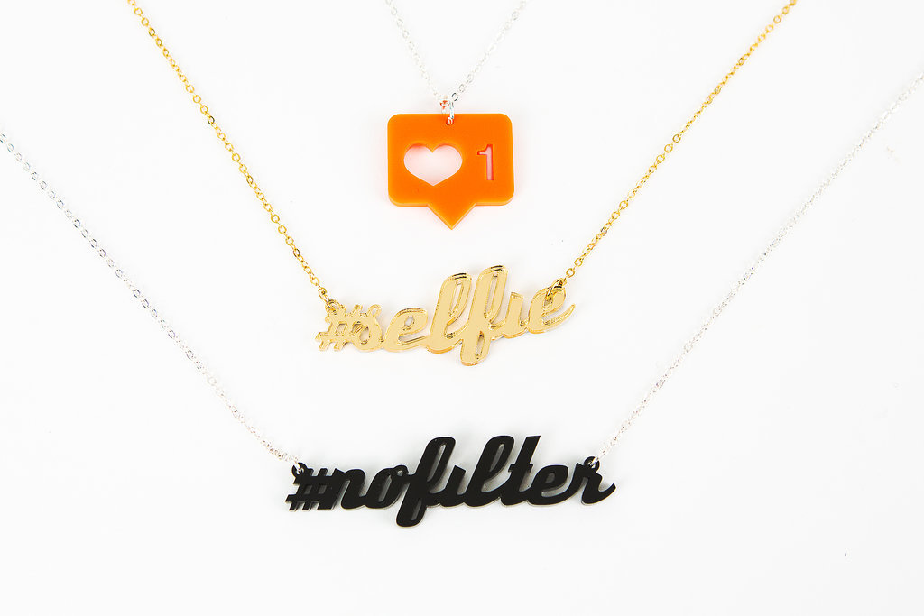 Consider these Instagram necklaces ($25) the modern version of the sister necklaces you used to wear as kids. #sisterlove