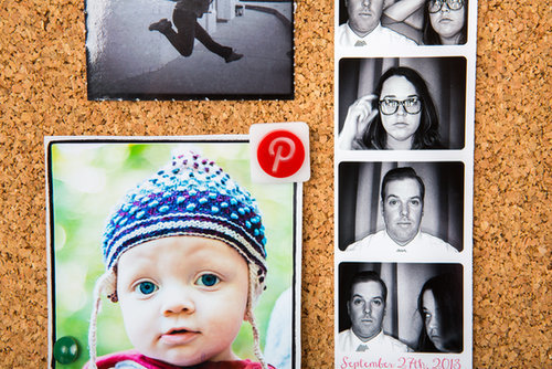 Fun photo-app pins ($12) will be great for holding photos of you two in place or embellishing her backpack.