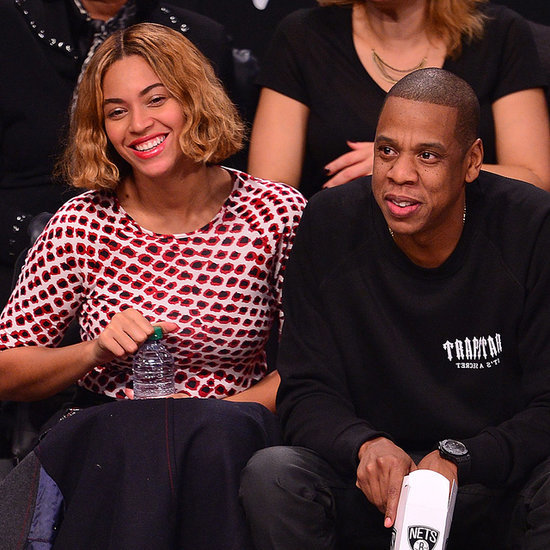 Beyonce and Jay Z Attend Brooklyn Nets Game November 2014