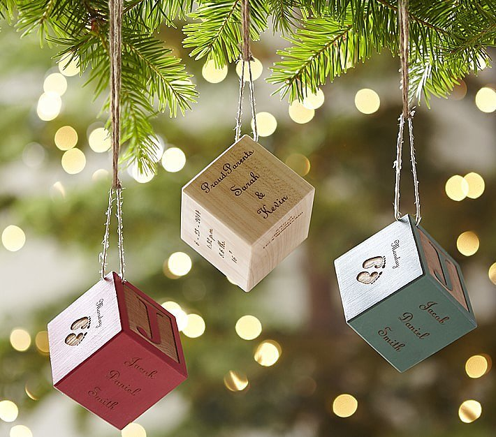 Baby Block Personalized Ornaments