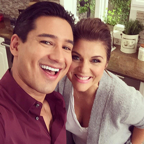 Mario Lopez and Tiffani Thiessen Twitter Picture 2014