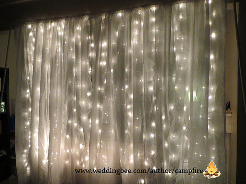 -Booth Backdrop | 23 Unique Ways to Decorate With Christmas Lights ...