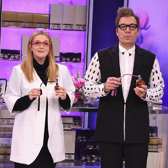 Drew Barrymore and Jimmy Fallon Channel Hilarious Perfume Salespeople