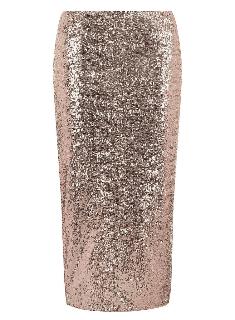 Dorothy Perkins Rose Gold Sequin Skirt