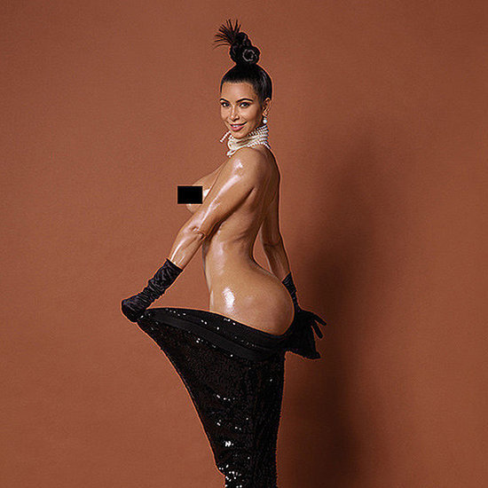 Kim Kardashian Butt Picture in Paper Magazine Winter 2014