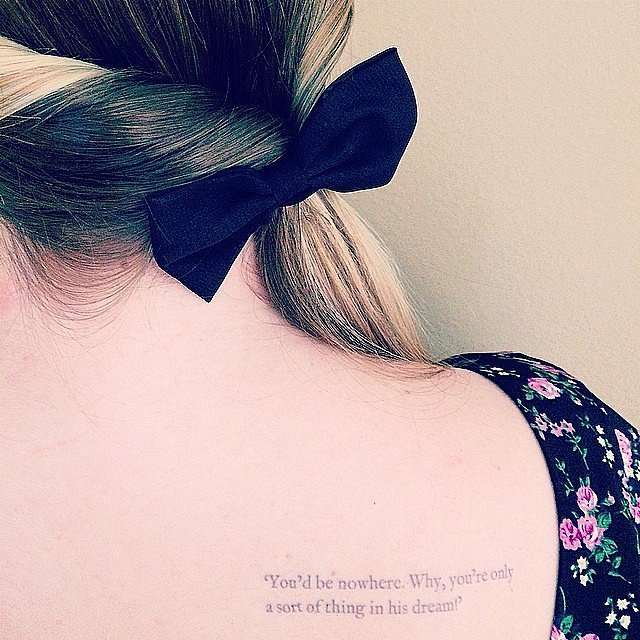 23 Epic Literary Love Tattoos: Tattoos Based On Books And Literary Quotes