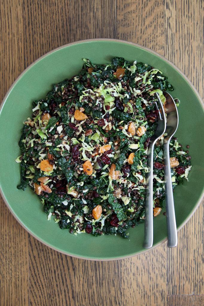 Brussels Sprouts, Kale, and Lentil Salad