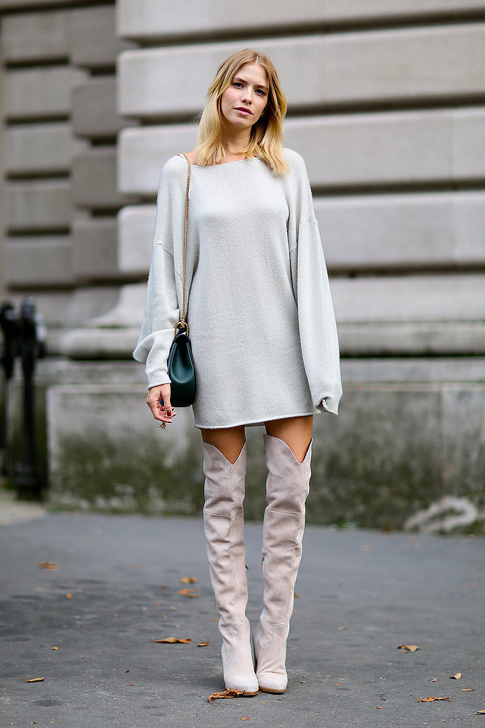Over The Knee Boots Were A Recurring Trend Outside The Spring 2015 The 50 Best Street Style