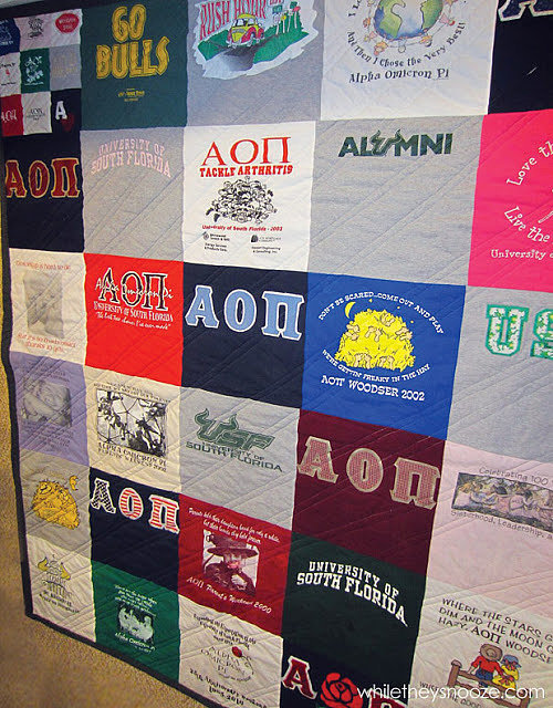 T-Shirt Quilt 37 of the Best DIY Gifts For College Students POPSUGAR Smart Living