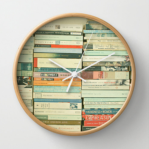 Bookworm Wall Clock 30 33 Book Themed Gifts For The
