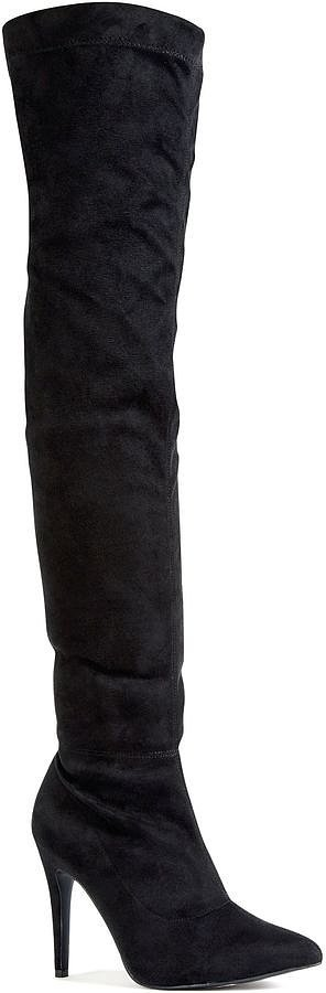 next black thigh high microsuede boots 163 60 the best