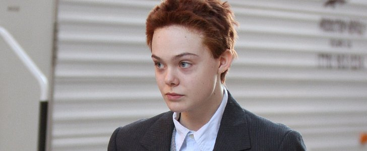 Elle Fanning Is Unrecognizable With a Short Red Crop