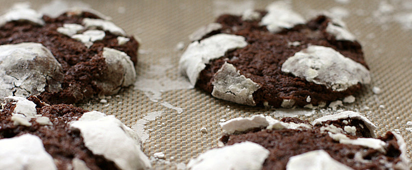 Hacking the Box Mix: Homemade Chocolate Marshmallow Crinkle Cookies