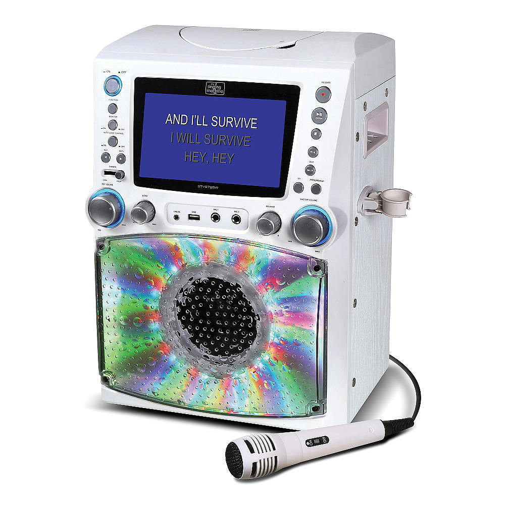 For 8-Year-Olds: Singing Machine Lights & Recording Karaoke