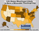 The Worst States to Have a Happy Thanksgiving