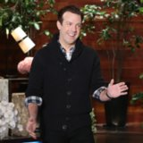 Jason Sudeikis Shares Photos of His Son on Ellen Show 2014