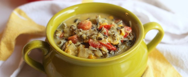 A Hearty Vegan Corn and Wild Rice Chowder For Fall