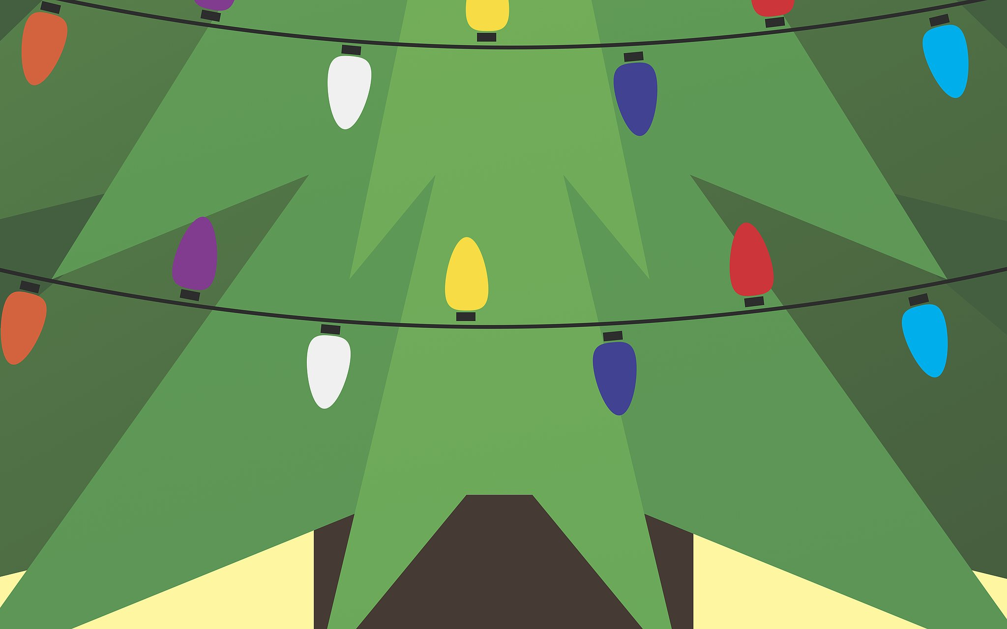 tree lights free holiday desktop wallpaper you 39 ll never