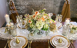 Steal This Vintage Glam Reception Table Style for Your Wedding