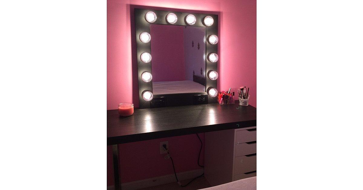 Starlight Vanity Makeup Lighted Mirror Hollywood Backse Broadway Mirror - Makeup Vidalondon