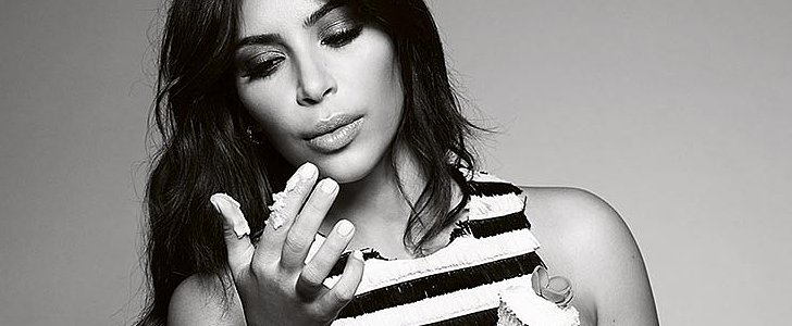 Kim Kardashian Stays Covered For Elle UK's Confidence Issue