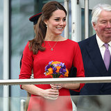 Kate Middleton Pregnant Style Red Dress 2014