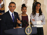 President Obama's Teenage Daughters Were Not Impressed During the White House Turkey Pardon -- Watch Their Priceless Reactions